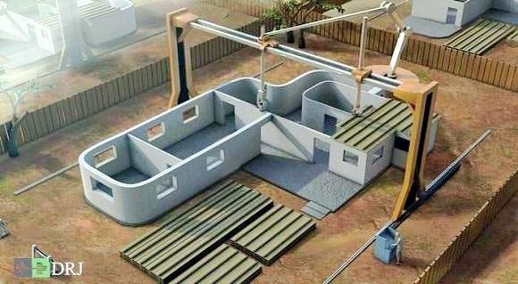 بزرگ ترین پرینتر سه بعدی ساختمان ساز